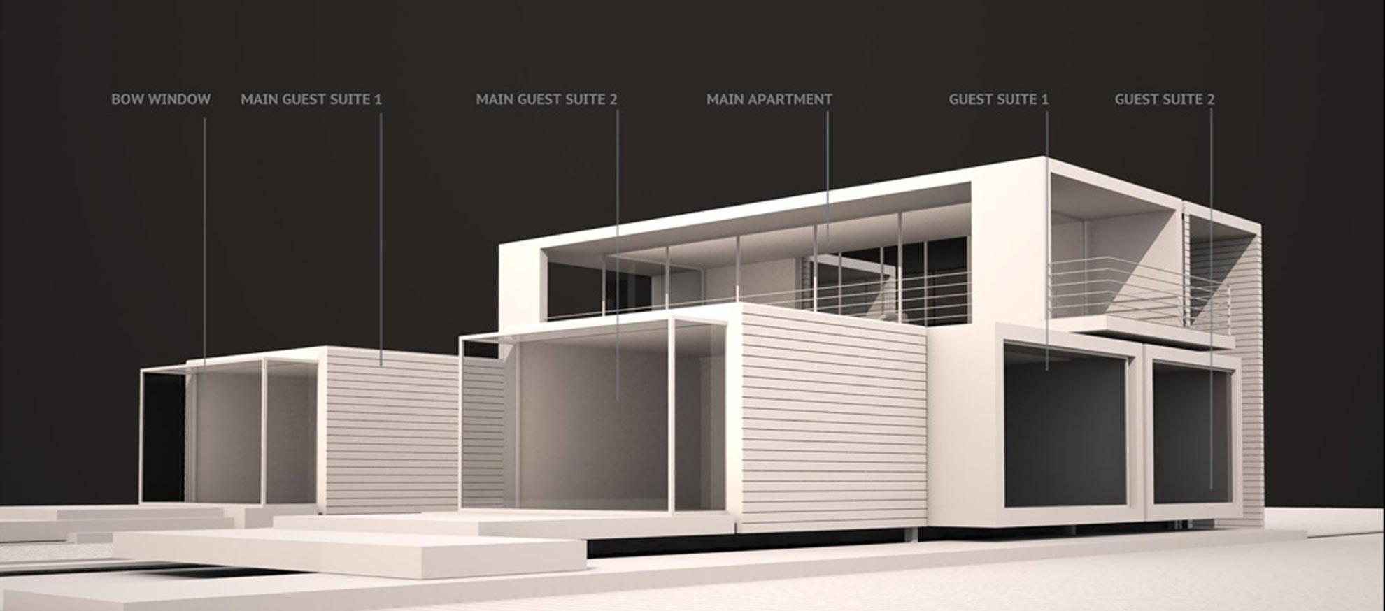 Villa modulare tennessee usa architetto andrea bella for Casa moderna a torino