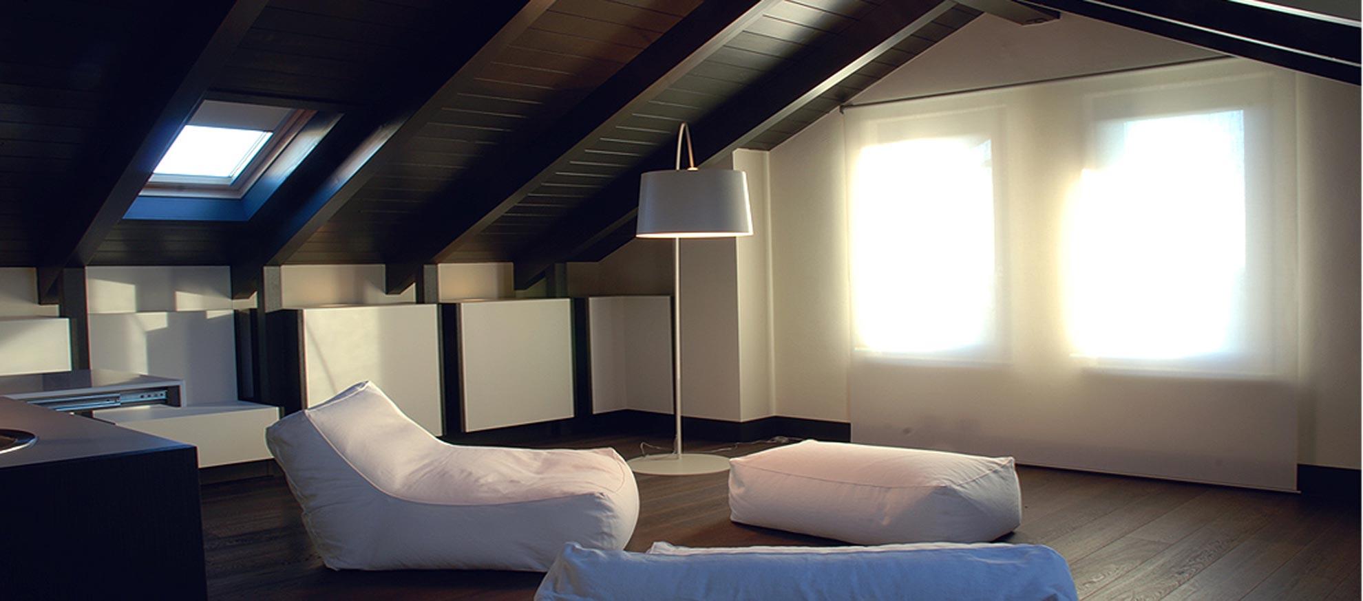 Una mansarda open architetto andrea bella - Interior design torino ...