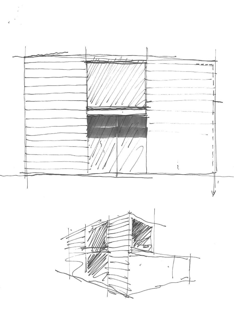 schizzo progetto architettonico